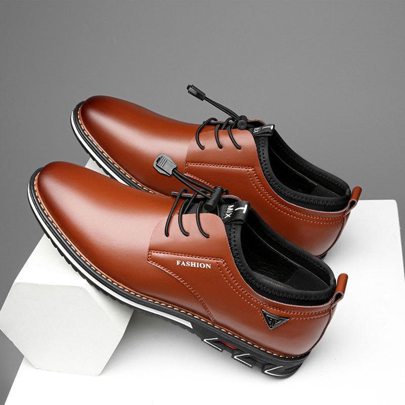 Çapraz sınır büyük boy 2020 erkek deri ayakkabı yuvarlak ayak moda erkek ayakkabı erkek rahat ve rahat ayakkabılar fabrika teslimat