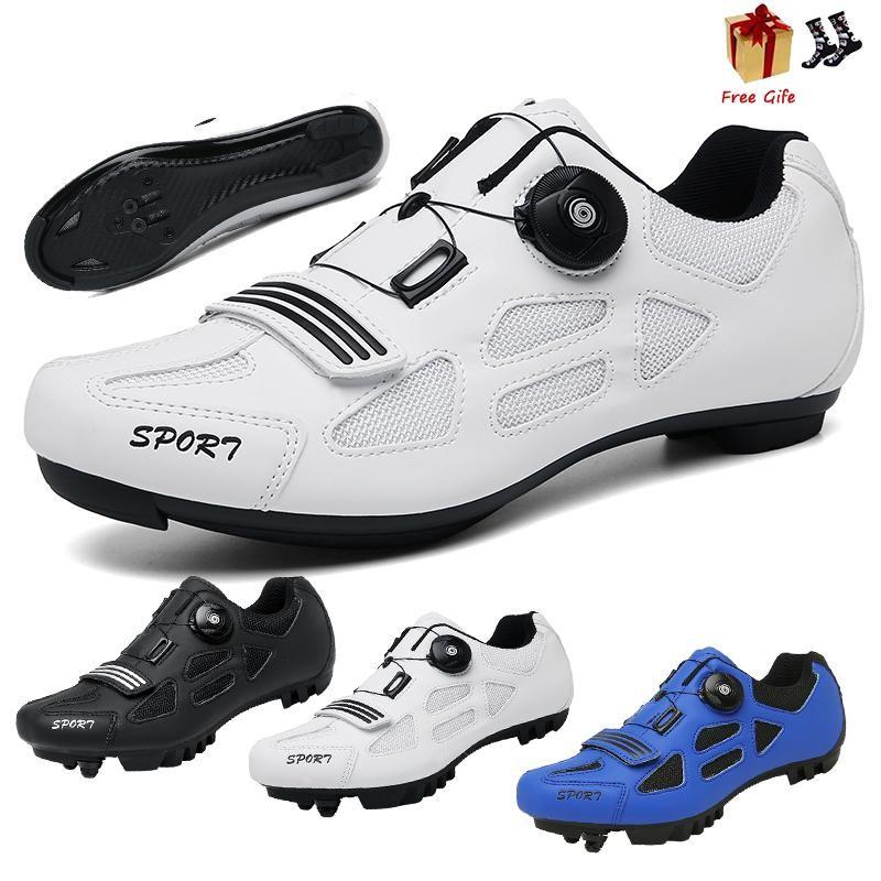 Cycling Footwear Breathable Racing Road Bike Shoes Self-Locking Cleat Bicycle Outdoor Anti-Skid Ultralight Sneakers Men