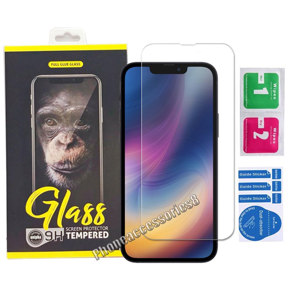 2.5D واضح الزجاج المقسى شاشة الهاتف حامي شاشة ايفون 13 12 11 برو ماكس XR XS X XS سامسونج A02 A02S A32 A52 A72 A92 4G 5G مع صندوق البيع بالتجزئة