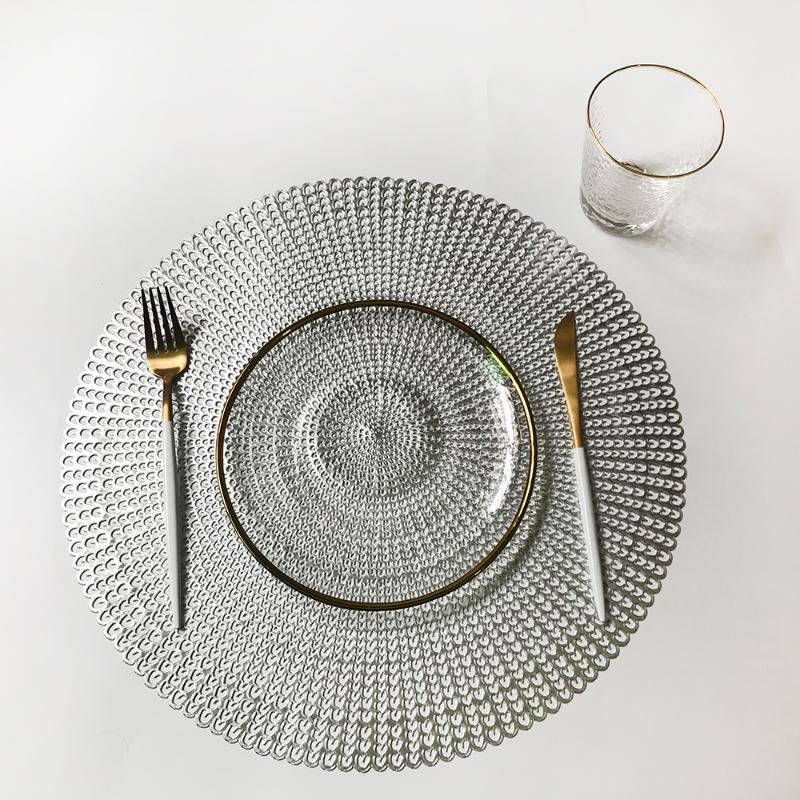 Mats & Pads Round Insulation Table Plastic Placemat Non-slip Coffee Tea Place Kitchen Decoration