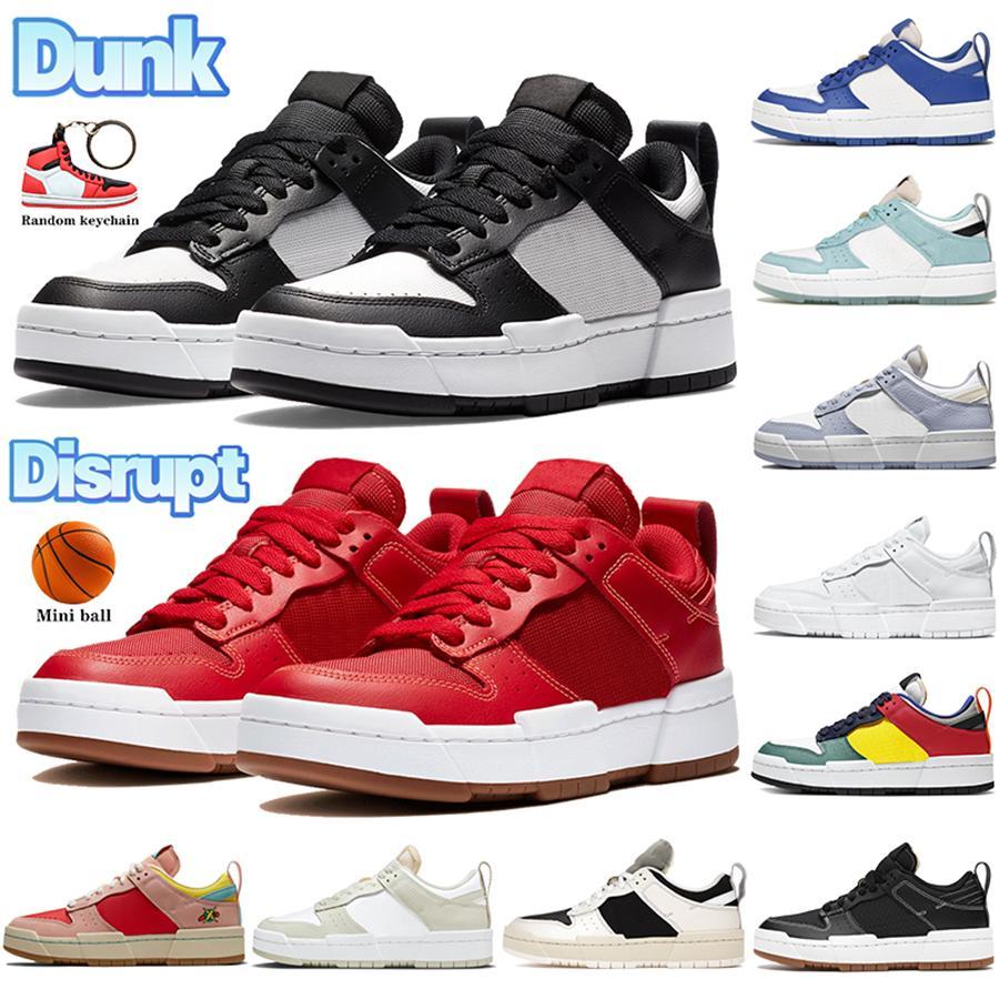 2021 أحدث دونك تعطيل الرجال عارضة الأحذية cny أسود أبيض أحمر اللثة لعبة الملكية المعدنية الفضة متعددة الألوان رجل النساء أحذية رياضية