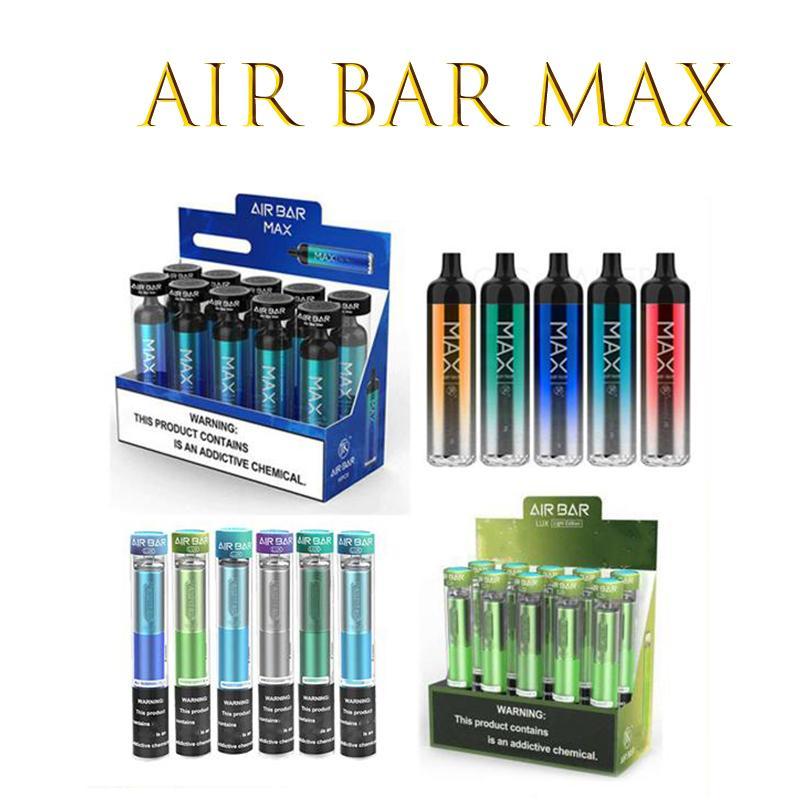 E-cigarros Air Bar Max Lux Recarregável Dispositivo Descartável Cigarros 2000 Puffs 6.5ml Vape Pré-enchido Vapagens 1250mAh Bateria Aviável Flum