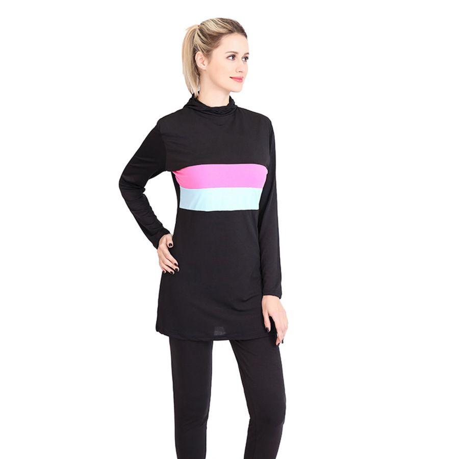 Сплит эксклюзивные женские брюки с длинным рукавом консервативные солнцезащитный крем из двух частей купальник B4WG