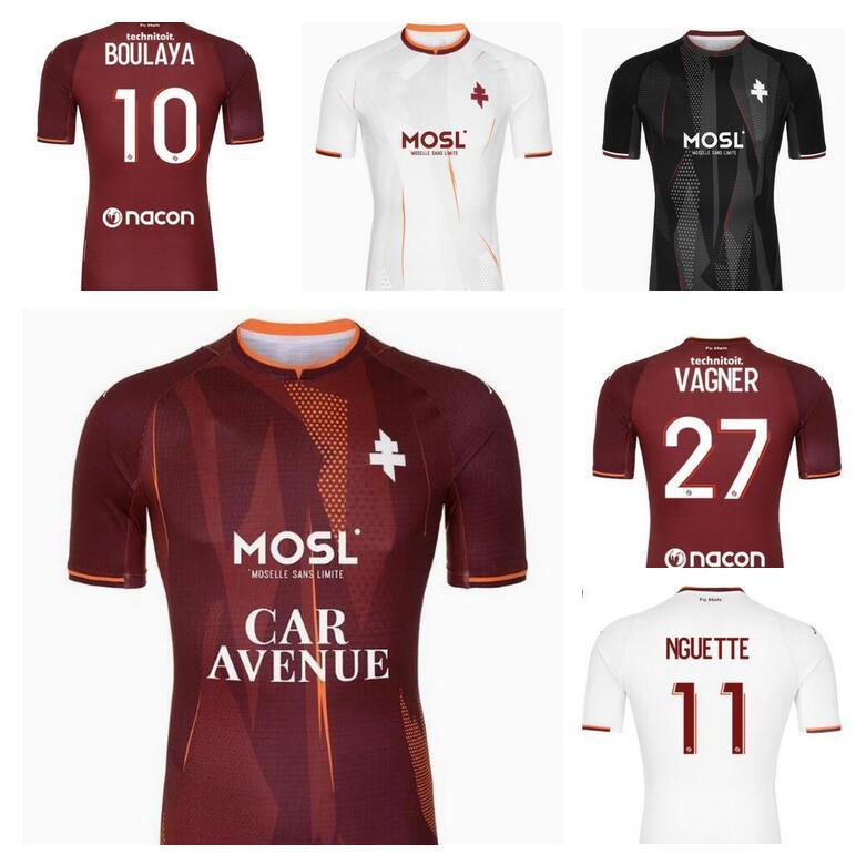 2021 2022 FC Metz Futebol Jerseys Diallo 20 Centonze 18 Vagner 27 Niane 7 Fofana 6 Home 21/22 Jersey Camisas de futebol Tailândia