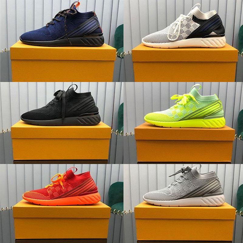 Luxurys Homens Desginer Hida Sapatos Respiráveis Sapatilhas Tênis Full Knit Gradiente Sneaker One-Pequeno Sock Leve Treinadores Tamanho 38-46
