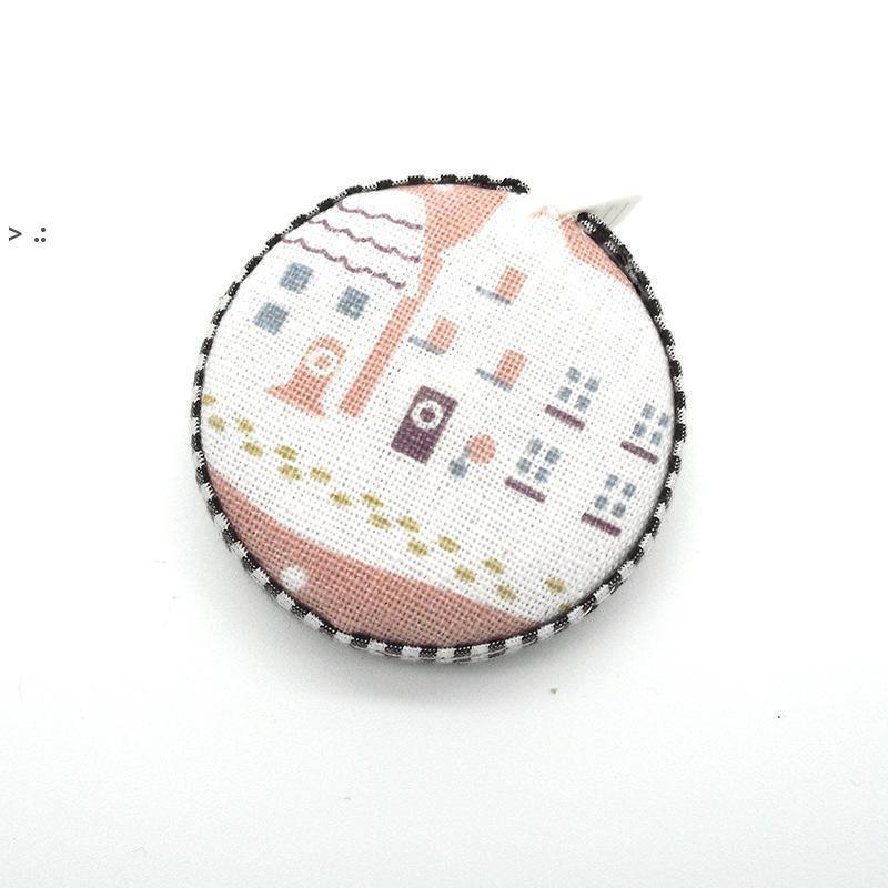 150 cm / 60 pollici metro a nastro portatile in tessuto retrattile in tessuto coperto nastro di misurazione strumenti di cucito regali creativi OWD10590
