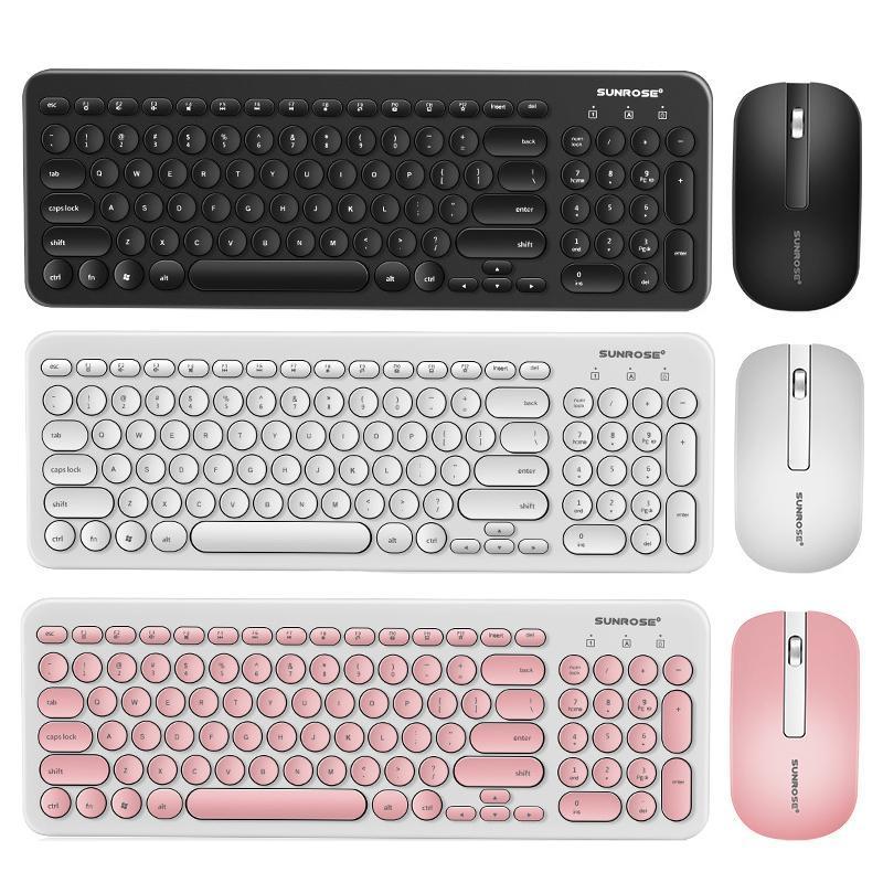 Slim Wireless Keyboard Retro Chocolate Botões Mudo 96 Teclas Ergonomia USB Teclados Impermeáveis Para Mac Laptop Mouse Combos