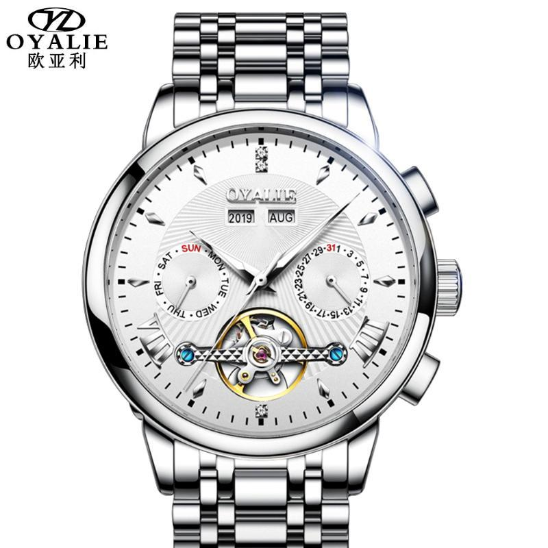 Montre en acier inoxydable Hommes Montre en acier inoxydable Marque Résistant à l'eau Montres de luxe Reloj Hombre Montres-bracelets
