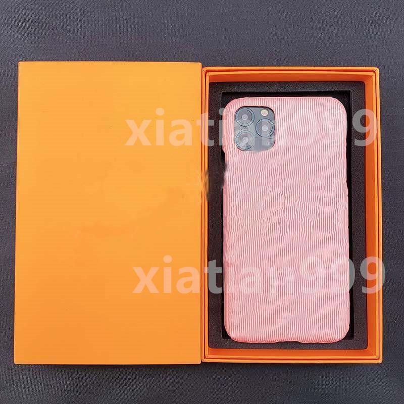 Coque de la mode mobile avec boîte-cadeau x Téléphone mobile iPhone 11 12 Promax Cuir XS MAX ANTI-DROP 7P XR