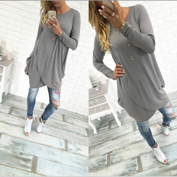 Vestidos outono moda manga comprida irregular solta mini vestido