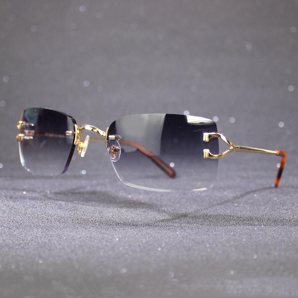 نظارات شمسية بدون شفة للرجال والنساء الفاخرة كارتر الشمس نظارات الإطار مع عدسات ملونة النظارات الكلاسيكية العصرية gafas de sol