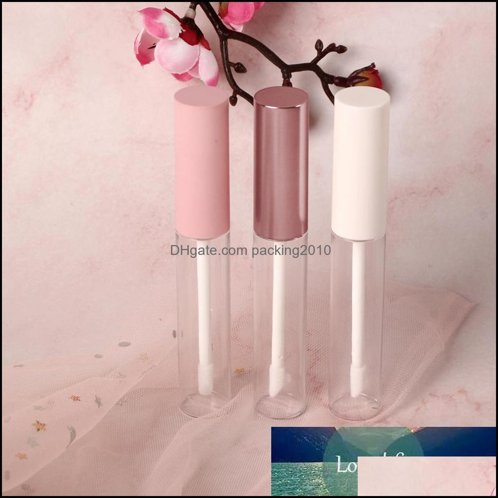 Packing Office School Business & Industrial1Pc 10Ml Empty Round Gloss Tube With Wand Applicator Refillable Plastic Lipstick Lip Balm Bottles