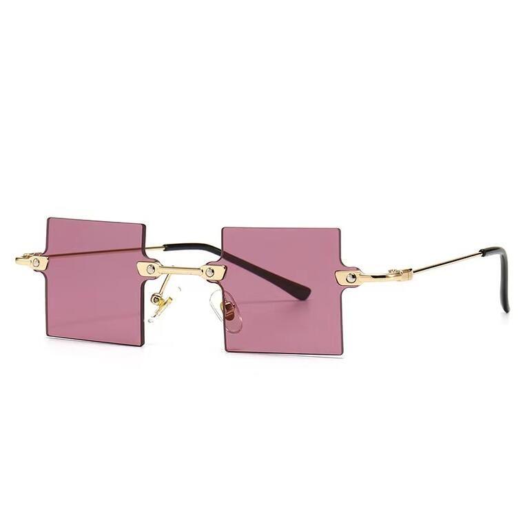 Um óculos de sol quadrados ao ar livre na moda sete cores para homens e mulheres desgaste redondo Cool moda óculos modernos