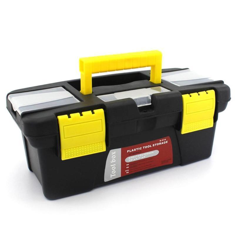 Herramientas Caja de almacenamiento Caja de herramientas de hardware de plástico Hogar Pequeño tamaño Mantenimiento Coche Anti-Fall Toy Bags