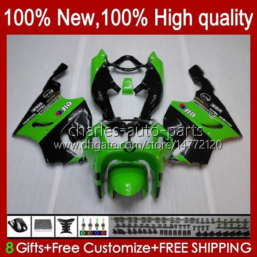 Corpo de carroceria para Kawasaki Verde New Ninja ZX-750 ZX7R ZX750 ZX 7 R Zx 750 28Hc.17 ZX 7R 1996 1997 1998 1999 2000 2001 2002 2003 ZX-7R 96 97 99 99 00 01 02 03 Fairing OEM