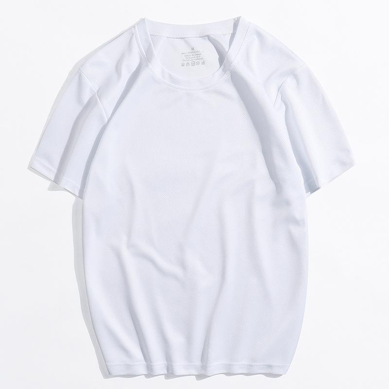 Hombre secado rápido camiseta de manga corta verano 2020 estilo coreano transpirable y flojo correr top entrenamiento de baloncesto