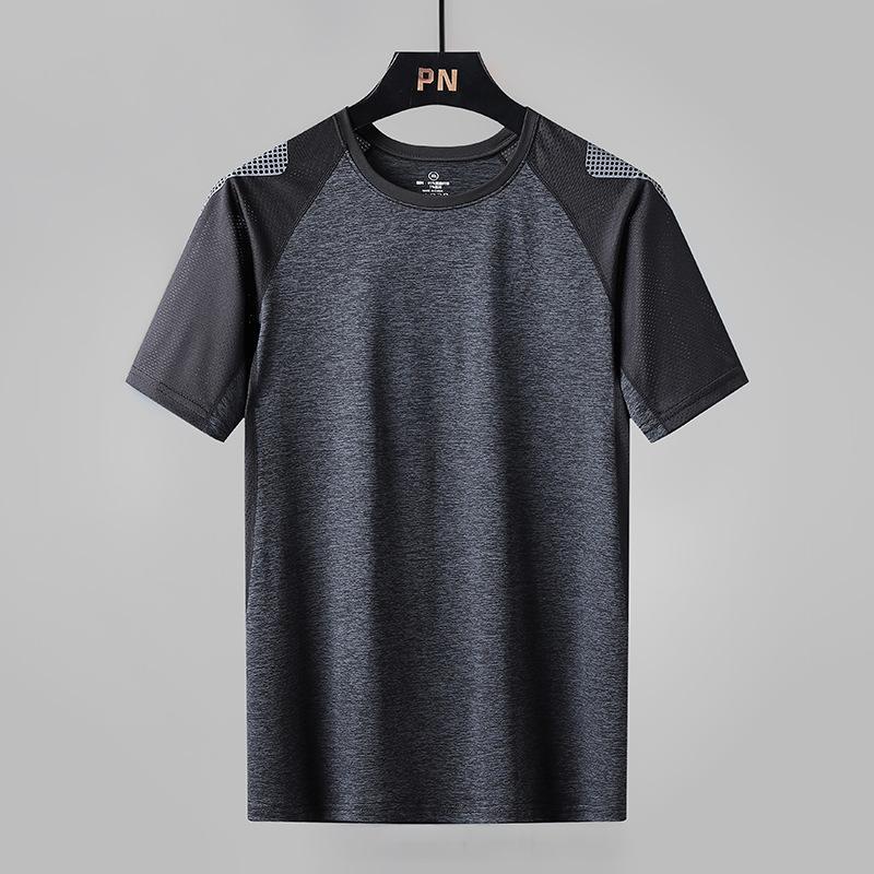 Летняя мода Повседневная футболка Свободные Большие Размер Молодежь Короткие Рукава Высококачественные спортивные Спортивные Мужские Одежда