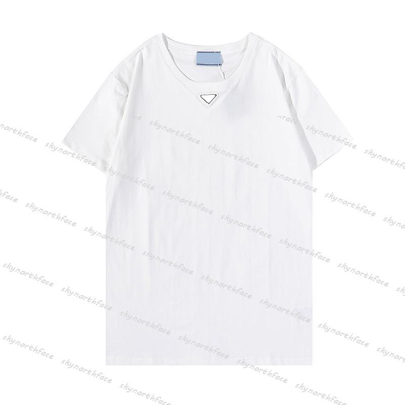 남자 s 여자 luxurys 디자이너 의류 패션 T 셔츠 삼각형 편지 망 Tshirts 여름 짧은 소매 셔츠 여성 2021