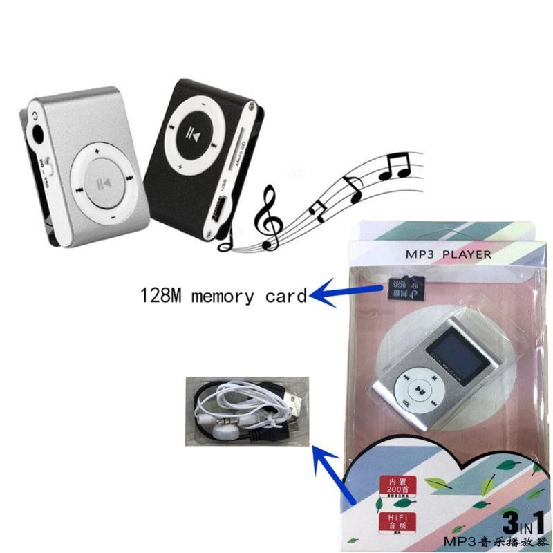 & MP4 Players Mini USB Metal Clip MP3 Player LCD Screen Support Micro SD TF Card Slot Digital Sport Music Portable Walkman