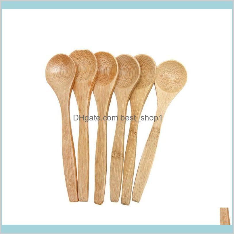Accueil Jardin Cuisine Salle à manger Bar Cuilware Cuillères en gros 6 pcs Bambou Bois de cuillère en bois ustensile Outils de cuisson HP6YB