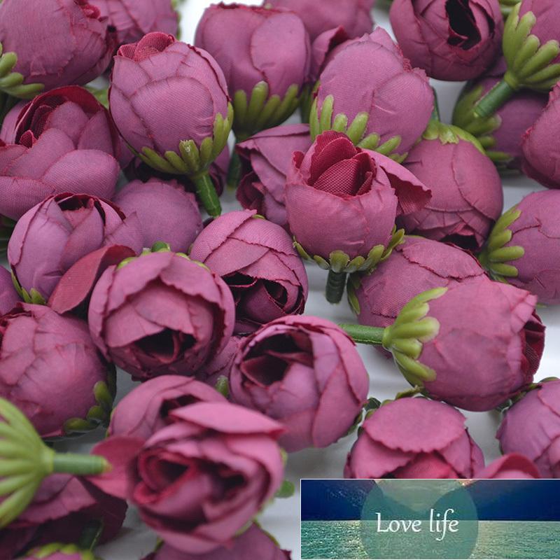 30 adet 2 cm Mini Yapay Gül Çiçek Tomurcukları Ipek Çay Gül Kafaları Düğün Dekorasyon Için DIY Garland Yılbaşı Hediyeleri Dekor Malzemeleri
