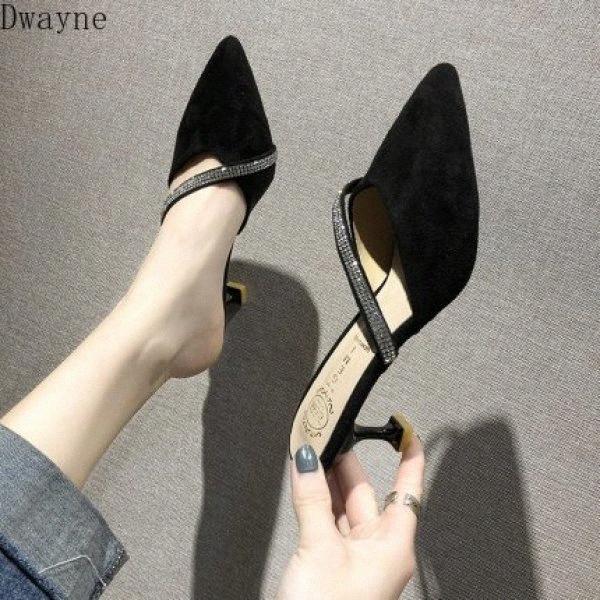Zapatillas de moda mujeres wildable wild 2020 verano nuevas sandalias casuales cómodos tacones altos J13Q #
