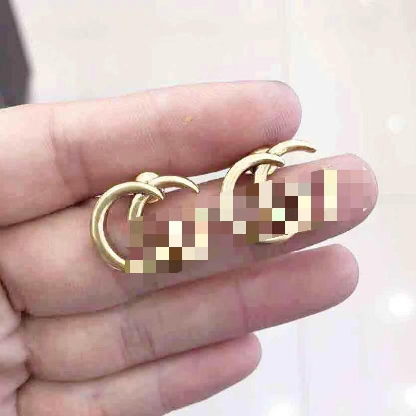 حلق مجوف عشيق أزياء العلامة التجارية 316L التيتانيوم الصلب الشرير للرجل والنساء مجوهرات هدايا عيد الميلاد