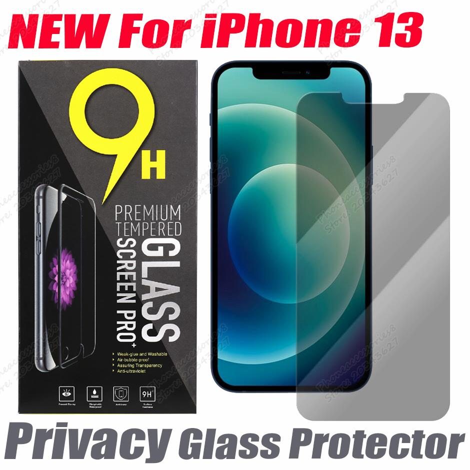 2.5D Privacy Tempered Glass protector for iphone 13 12 mini 11 pro XR XS X MAX 6 7 8 plus Phone Screen Anti-peep anti-spy flim with paper bag retail package
