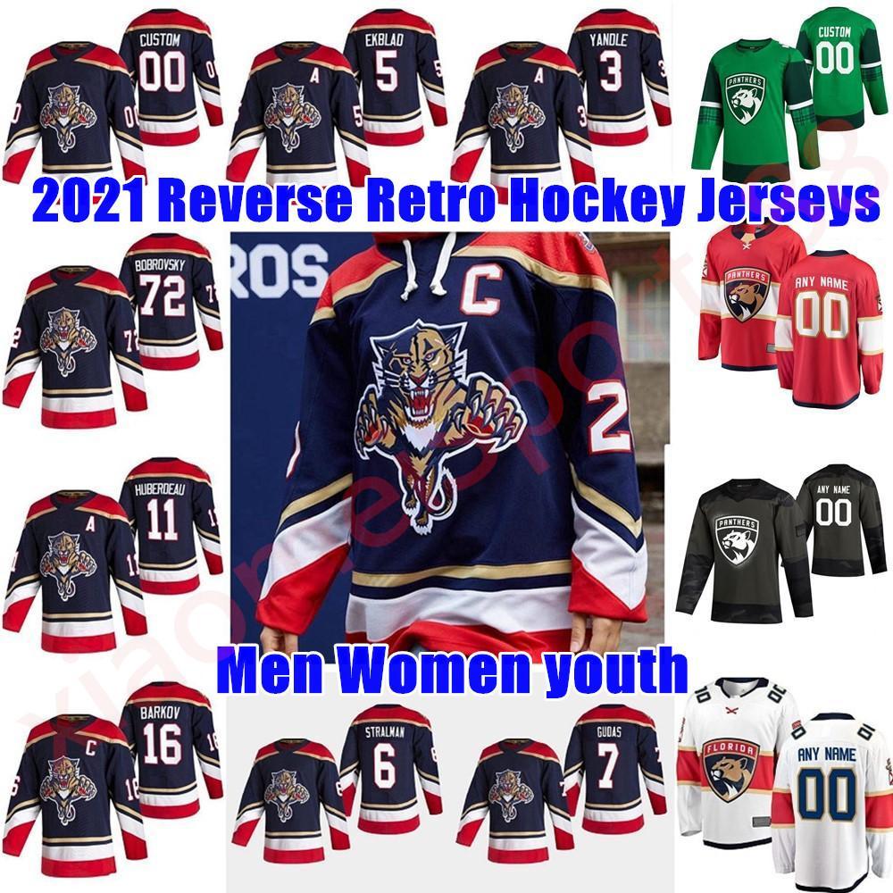 Florida Panthers 2021 Retro Retro Hockey Jerseys 8 Jayce Hawryluk Mike Hoffman Dryden Hunt Denis Malgin Colton Sceviour Custom Steinsted