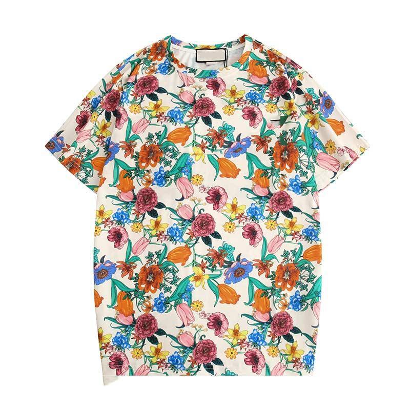 Homens Mulheres Designer Camisetas Alta Qualidade Casual Moda Pura Algodão Impressão Preto Branco Masculino e Mulheres T-shirt Tamanho M-2XL G06