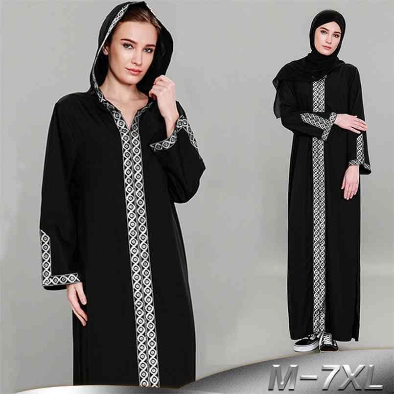 Kaftan Abayas für Frauen Schwarz Abaya Dubai Türkei Lange Hijab Muslim Kleid Femme Robe Kaftan Marokkanische türkische islamische Kleidung 210602