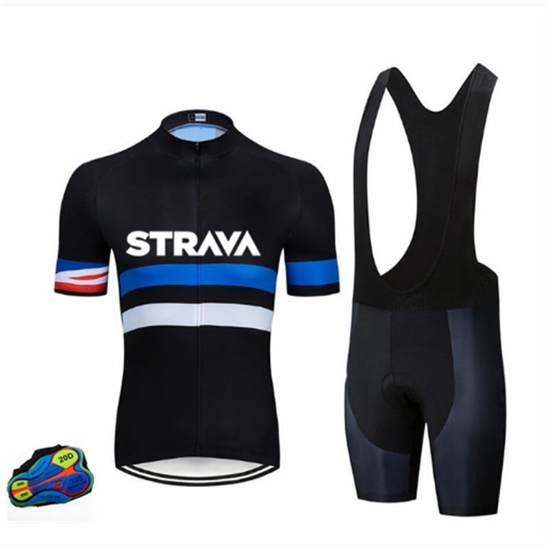 Ensembles de course Strava Custom Pro Custom Pro Team Vêtements de vélo Vêtements de vélo de vélo, vêtements à manches courtes rapides