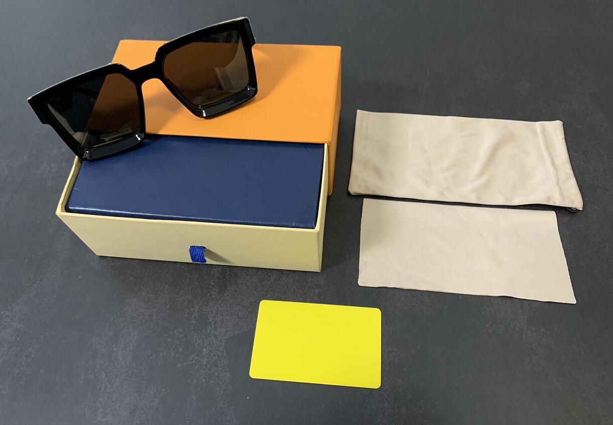 2021 럭셔리 디자이너 선글라스 패션 여러 가지 빛깔의 현대 고품질 남성과 여성 클래식 레트로 사각형 안경