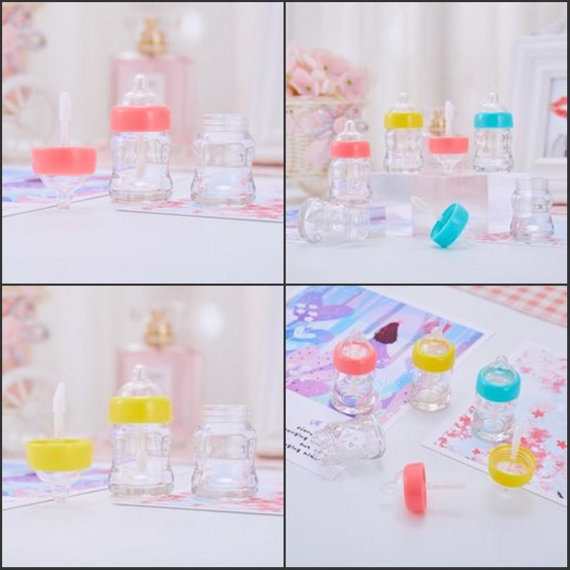 Plástico vazio labelo lustre recipiente transparente multi cor mamilo frasco tipo labial batom lipglosses tubo 1 6xm l2