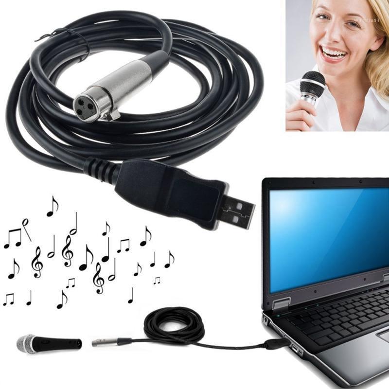 3m usb macho para xlr microfone feminino usb mic link cabo new1