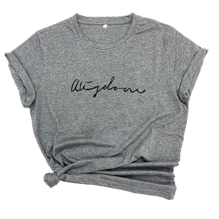 T-shirt Casual Line Brief Baumwolle Kurzarm T-Shirt Frauen Große lose dünne Mode oben