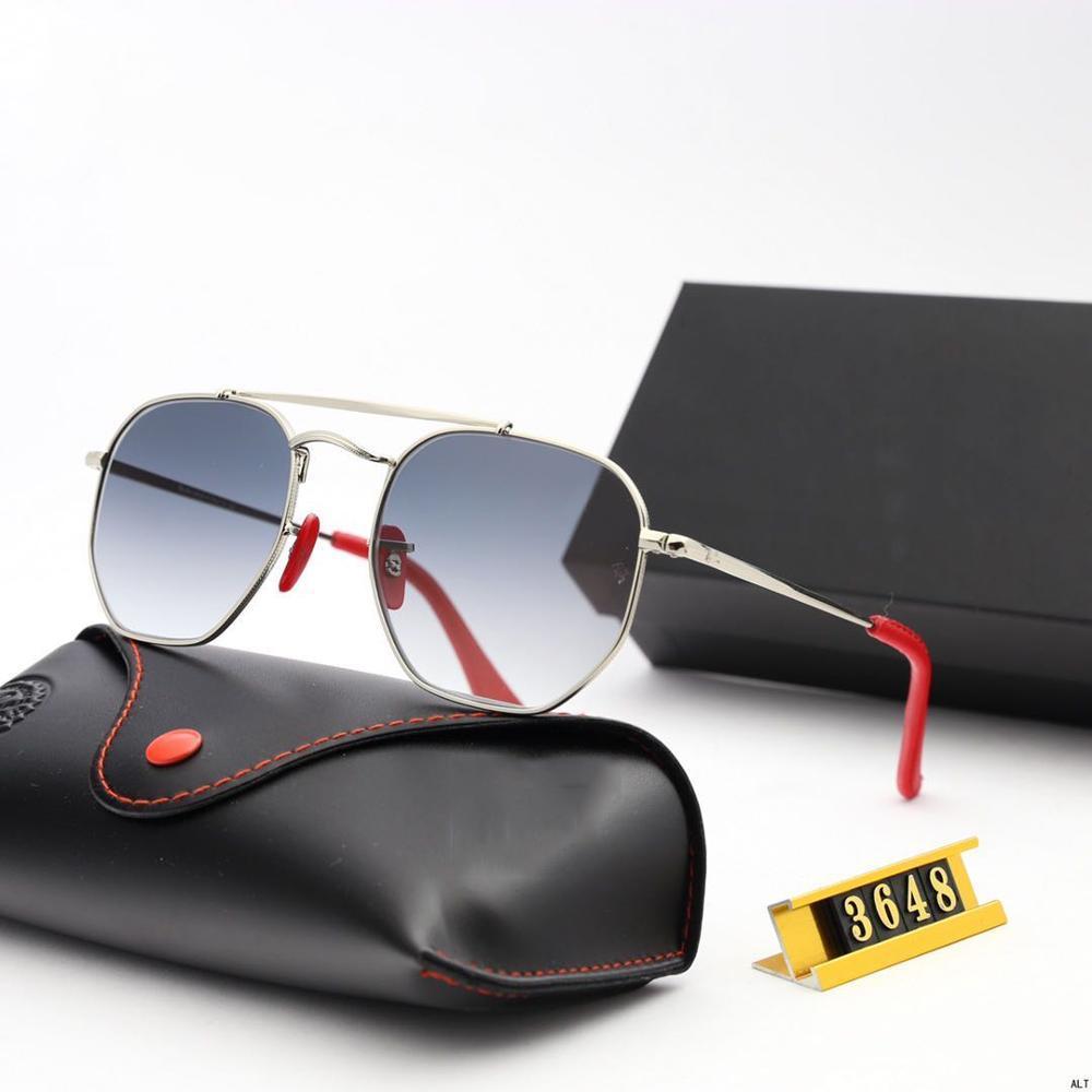 Sunglasses de mode Femmes de la marque de luxe Designer hommes / femmes lunettes de soleil classiques Vintage UV400 Conduite extérieure Oculos de Sol RB3648
