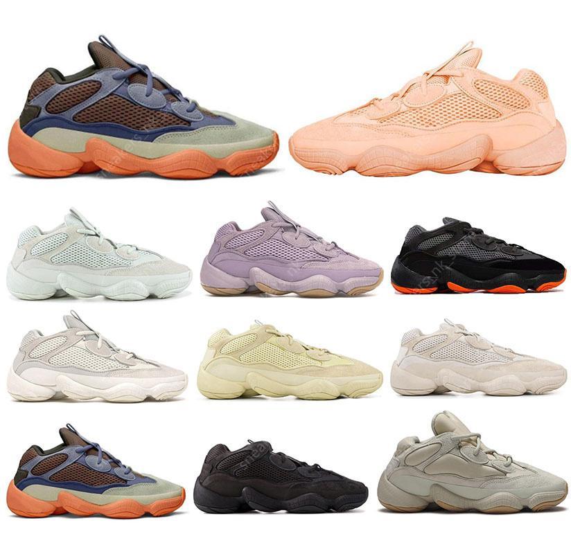 Kanye 500 500s Yeni Geliş Yumuşak Vizyon taş çöl faresi 500 Koşu Ayakkabı kemik beyaz 500s Yardımcı Siyah Tuz süper ay sarı Erkek Spor spor ayakkabıları eğitmenler