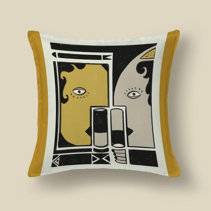 وسادة / وسادة الزخرفية 100٪ القطن القطن الحقيقي الطبيعي جودة عالية الرقمية مطبوعة ملون الزخرفية أريكة الأريكة السرير ديكور المنزل