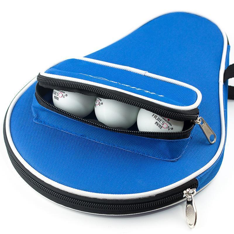 Pièce professionnelle Table de tennis de table de tennis Bat Sac Oxford Pong Coque de boîtier avec balles 2 couleurs 30x20.5cm raquets