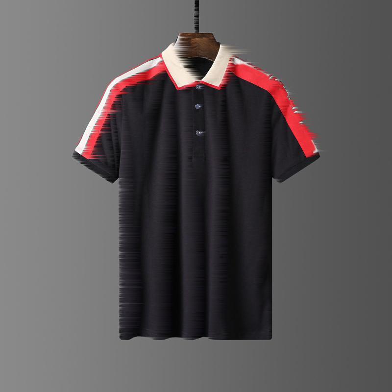 2021 Polos de verano Bordado de moda Hombre Polo Camisetas Camiseta Hombres Mujeres High Street Casual Top Tee