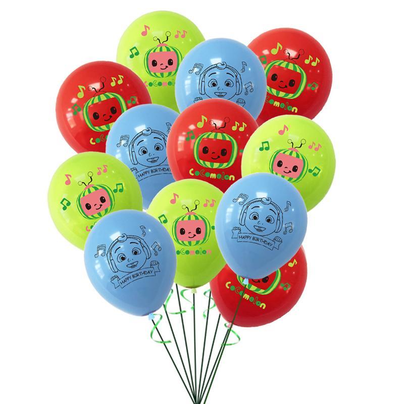 COCOMELON 12InCH Dibujos animados Bebé Familia Familia Moda Precioso Día de los Niños Brithday Decoración de fiesta Ornamento Hogar Toys Regalo