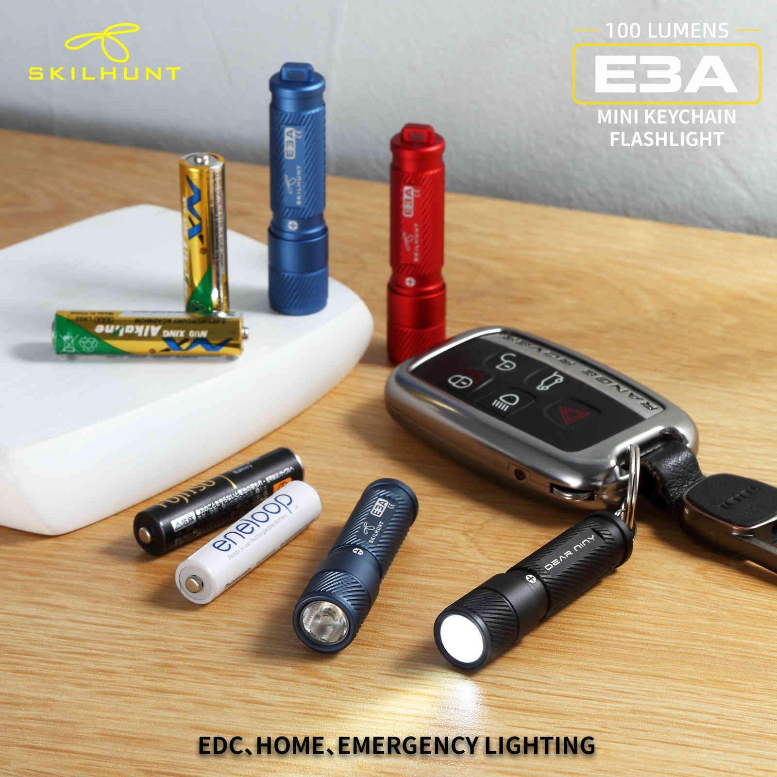 Novo Skilhunt E3A 100 Lumens AAA Keychain LED Lanterna Mini LED Chave Light 210322