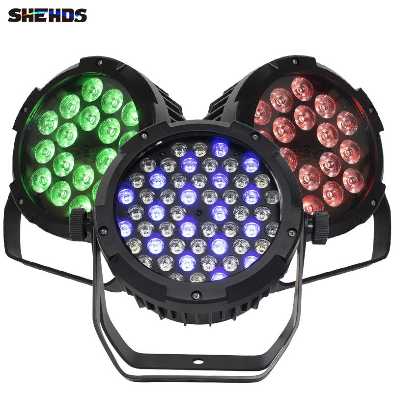 SHEHDS LED Flat Waterproof 54x3W / 18x18W /12W Par Light DMX Controller Party Dj Disco Bar Strobe Dimming Effect Projector Fast Delivery