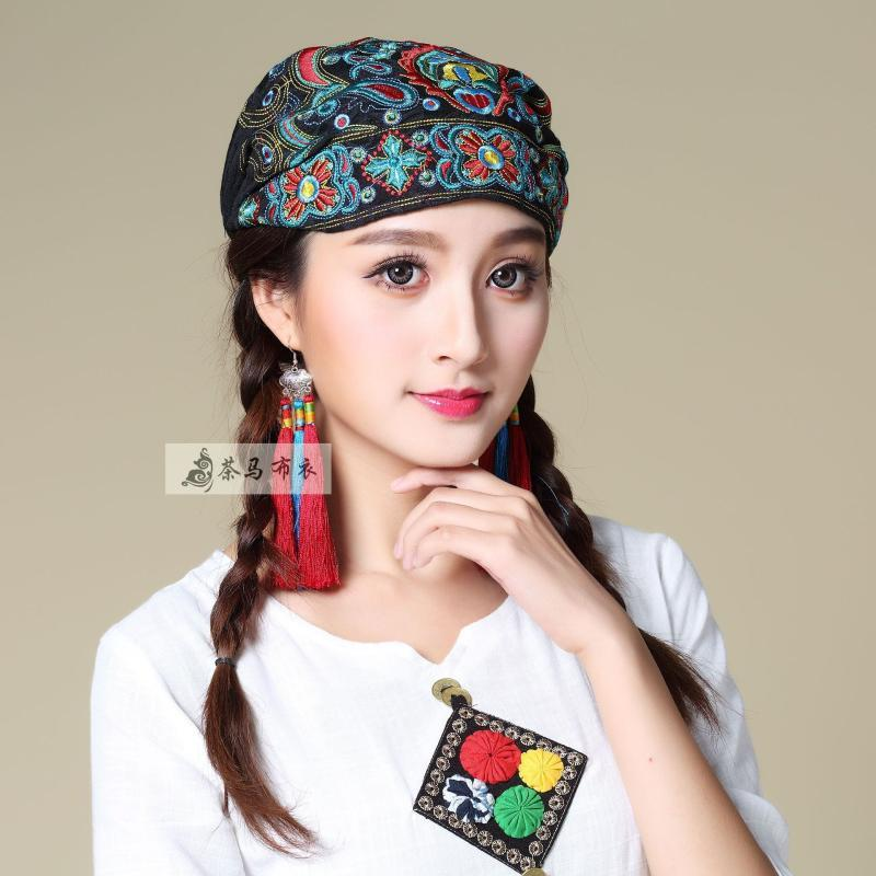Goreie / Caps de cráneo Estilo chino, sombrero bordado étnico, diseño retro de Liping de Yang de los niños de la protección del sol de la protección del sol, Pañal L
