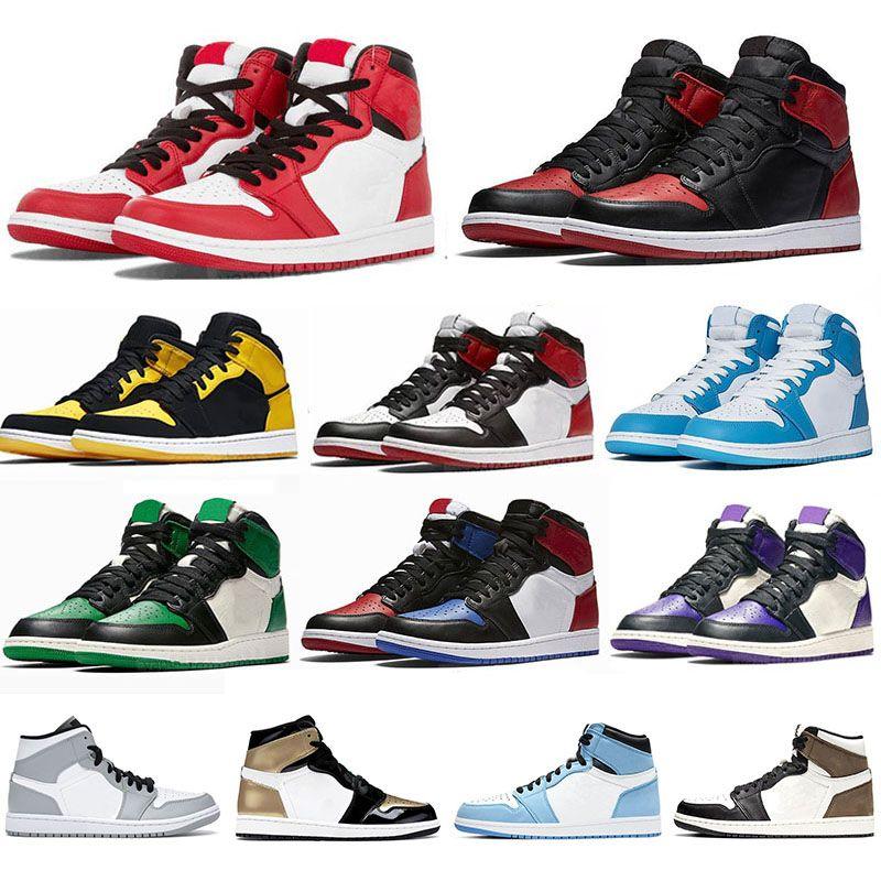 Jumpman Air jordan 1 Basketball Shoes Running shoes هايت منخفضة قطع ألعاب القوى أحذية رياضية للنساء الرياضة الشعلة الأرنب لعبة رويال الصنوبر الأخضر كورت يورو 36-46