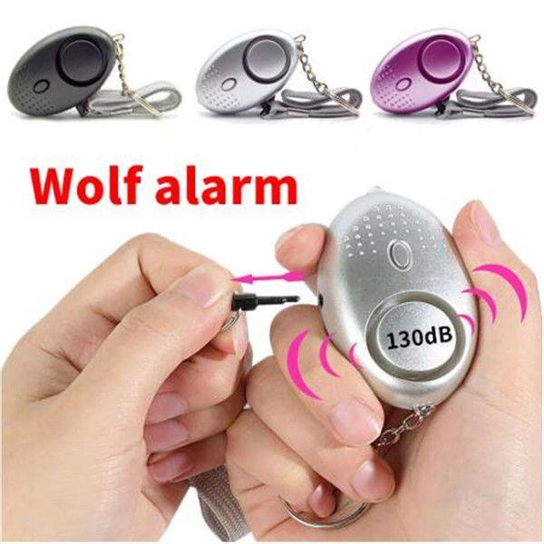 130dB 계란 모양 자기 방어 알람 소녀 여성 어린이 보안 보호 경고 개인 안전 비명 소리 키기 키 체인 경보 시스템 12 색 2021