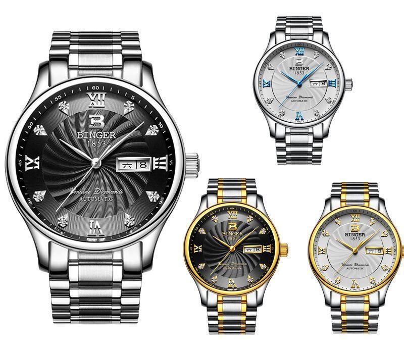 Armbanduhren Originalbinger 603b Geliebte Serie Mechanische Mann Uhren Paare Glitzernde Gnade Luxuriöse Business Mode Kristall