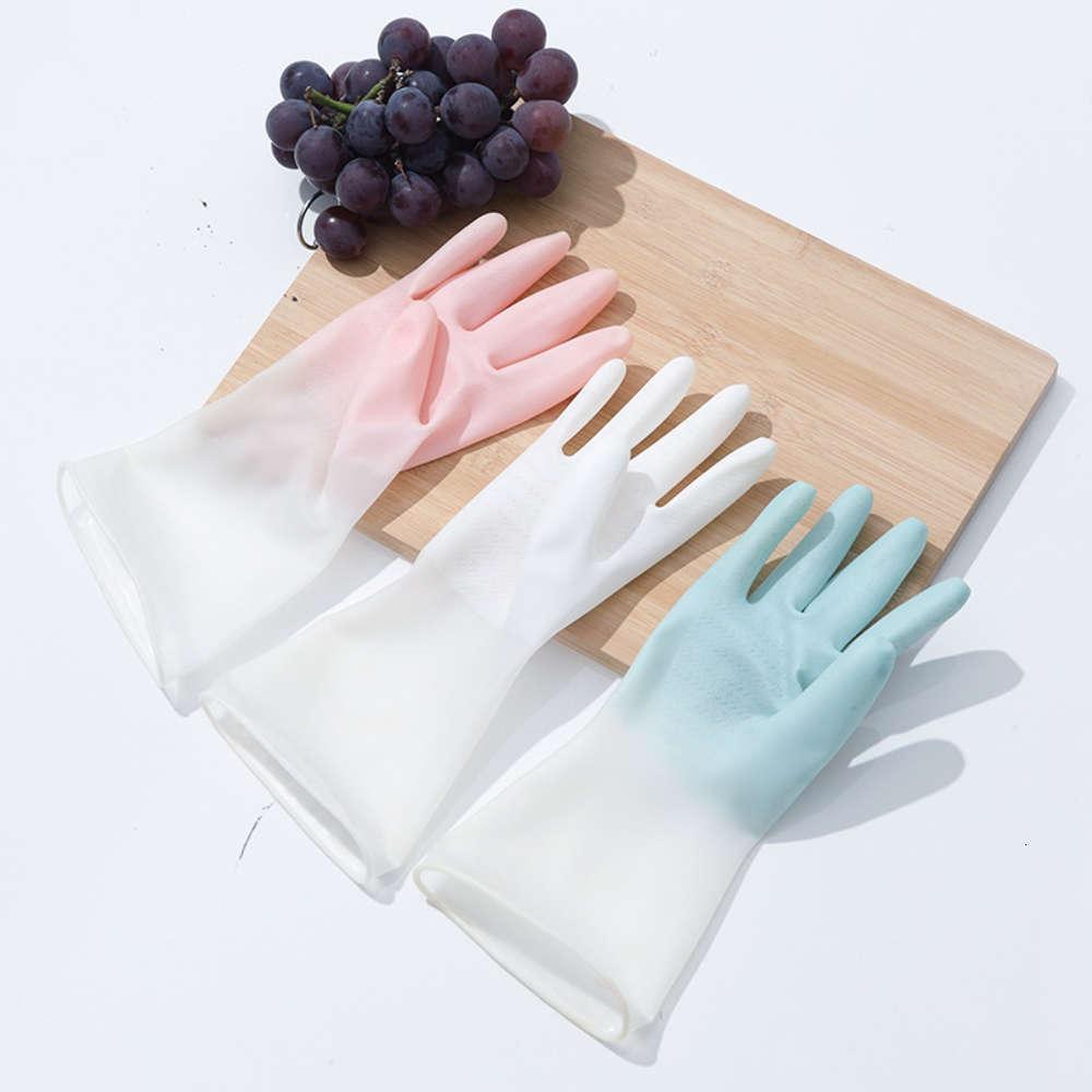 Luvas de lavar louça impermeável fina cozinha limpa lavanderia lavanderia ruby tigela luvas domésticas