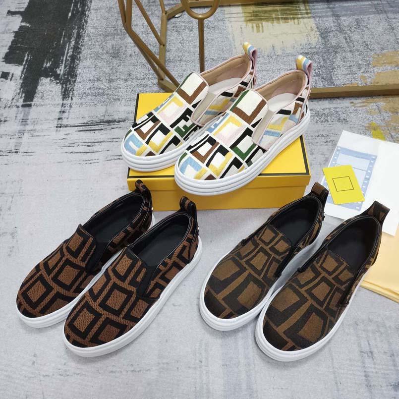 Classic Mocasines Mujeres Alpargatas Zapatos planos Lienzo y Mocasines de piel de cordero real Dos tonos Cap de punta Moda Zapatos Casuales Shoe10 01